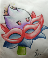 PvZ2 Fan Plant| Fire Queen Flower by MauroDboyPVZ