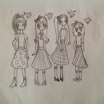 The 80s girls (by luna) by Princess15eevee