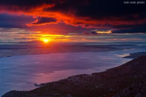 Sunset over the Karlobag by ivancoric