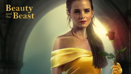 Emma Watson - Belle Wallpaper 01 by AxteleraRay-Core
