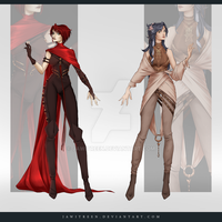 (CLOSED) Adoptable Outfit Auction 274-275 by JawitReen