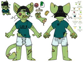 Icky the Cat (Ref Sheet) by JuiceMarket