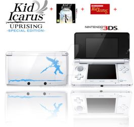 NanoNanoPudding 40 2 Kid Icarus Uprising Special Edition 3DS By Chop StiXz