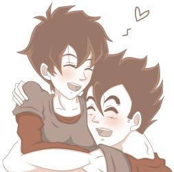 Gohan and Videl by Beastwithaddittude