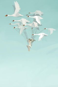 Wild swans by Pendalune