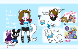 Lily Weasel Reference fursona !! by PoppyWeasel