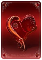 Ace of Hearts Card by Lilyas