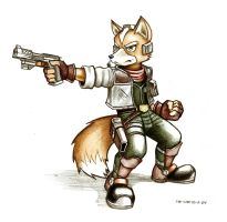 Fox McCloud sketch- March by Spectrum-VII