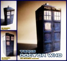 [DOCTOR WHO] TARDIS - Papercraft by ana-k89