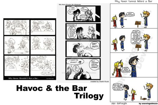 FMA: Havoc and the Bar Trilogy by OneWingedMuse