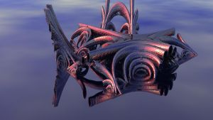 Organ pipes (JWildfire fractal as 3D Mesh) by thargor6