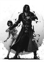 Corvo and Emily by Nonparanoid