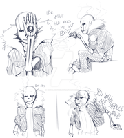 Gaster Sans Sketches by OHItsJULY69x