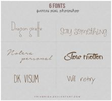 6 fonts by friabrisa