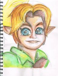[SKETCHBOOK HIGLIGHTS] Young Link Attempt by TheNinToaster