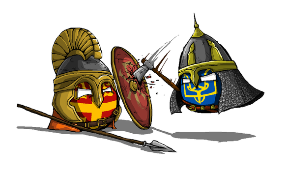 Battle between Kievan Rus' and Byzantine by KaliningradGeneral