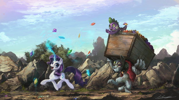 Just Another Day on the Gem Fields by Huussii