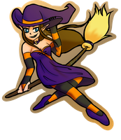 .:Group Collab:. Witchy Zelda by Silvaze126