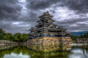 Matsumoto Castle by mib4art