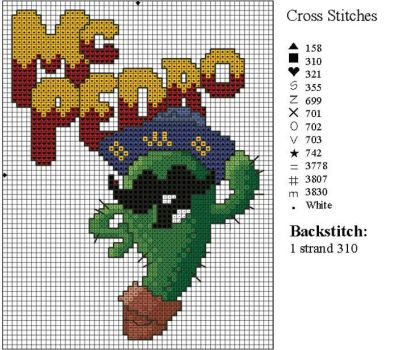 McPedro Cross Stitch Pattern by NevaSirenda