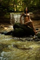 amazon at the waterfall by gestiefeltekatze