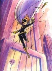 Batgirl Watercolor by mikemaihack