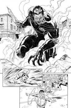 Green Lantern New Guardians annual inks by EDGARSALAZAR