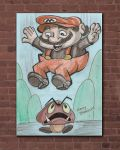 Classic Super Mario Stompin Goombas by Stnk13