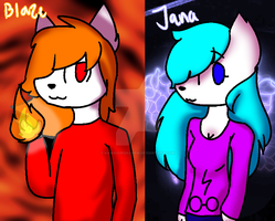 Blaze and Jana [Art Trade] by KawaiiUrsaChan