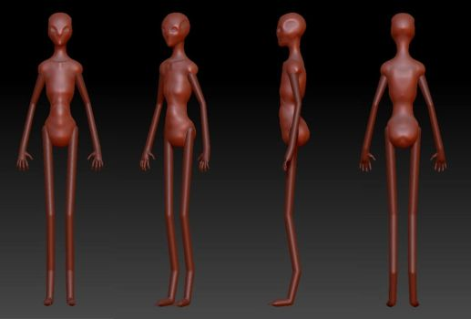 Siren Model Pre-Development 2 by AdventDestiny