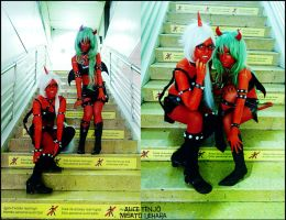 Naughty demon sisters by AliciaMigueles