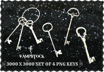 Skeleton Keys PNG Vampstock by VAMPSTOCK