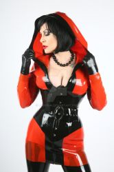 Miss Velour in red and black latex by Ange1ica