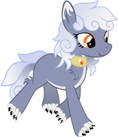 Moon Shine the Wolfpony by DayDreamSyndrom