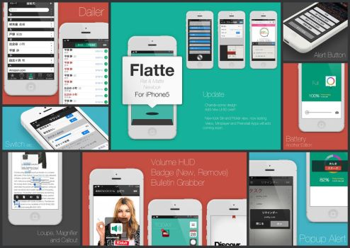 Flatte iPhone5 update by ughrone