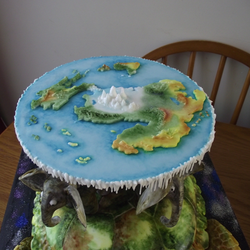 Discworld Cake Top view by Barracuda-Bruce