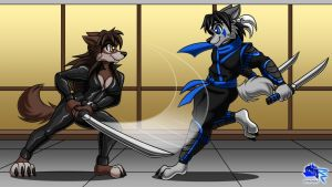 Sparring by Otakuwolf
