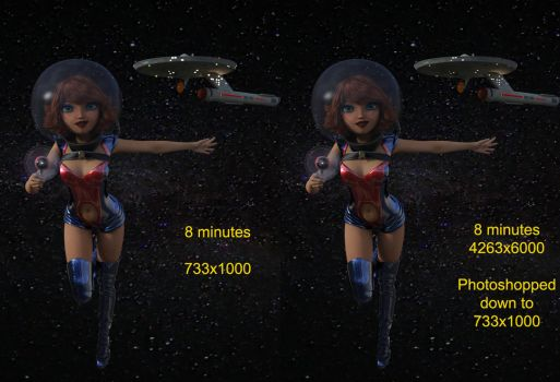 Iray tutorial - Render Large and Reduce. by PDSmith