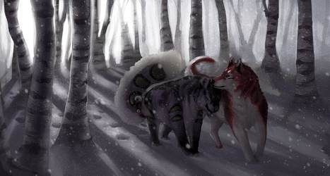Comm: Long walks in the snow by SunDier