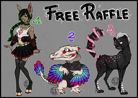 FREE RAFFLE - OPEN - 3 DESIGNS - WINNERS by Bunnior
