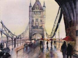 For sale original - After the rain - Watercolor by nicolasjolly