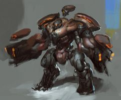 robot concept unfinished by rawwad