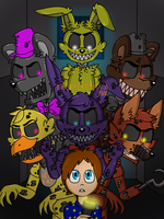 Five nights at Nightmare's by PinkFlam17