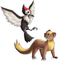 Pikipek and Yungoos