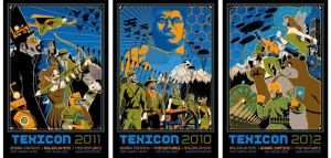 Texicon triptych by DomNX