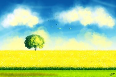 Sunny Landscape by ElyGraphic
