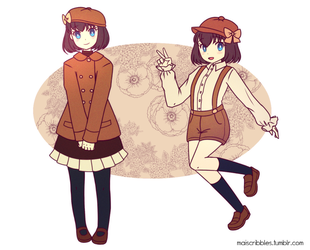 [OCs] Vintagelike by maiscribble