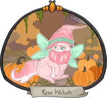 Halloween Advent Day 7 - Rose Witch by aquilala