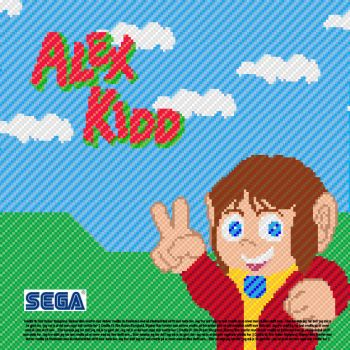 Alex Kidd CD-cover by Ompakim