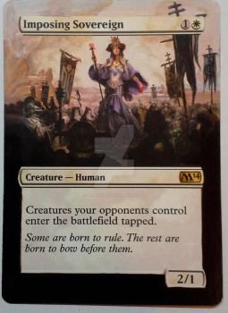 IMposign Sovereign Altered MTG by artbydarryl